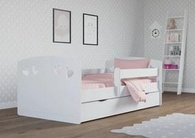 Pat copii Julie - alb 160x80 cm pat + spațiu de depozitare