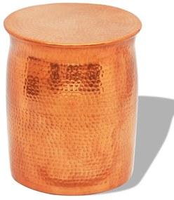 242325 vidaXL Scaun/masă laterală, aluminiu bătut la ciocan, cupru/alamă