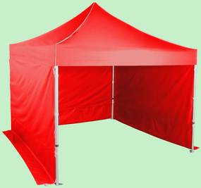 Pavilion de grădină 3x3m - din aluminiu hexagonal, Roșu