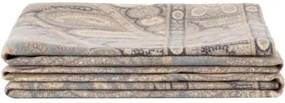 Cuvertura Lisbet alba/azur, 130x200 cm