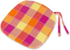 Pernă pătrată pentru scaune Indie cub portocaliu 37 x 37 cm