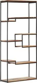 320941 vidaXL Bibliotecă, 80 x 30 x 180 cm, lemn masiv reciclat