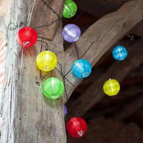 Ghirlanda cu 10 lampioane colorate, LED