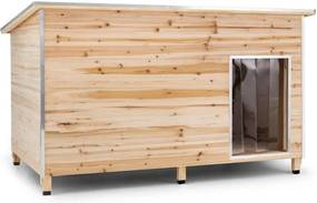 OneConcept SCHLOSS WUFF, cușcă pentru câine, Dimensiune L, 90 x 120 x 90 cm, izolata, lemn