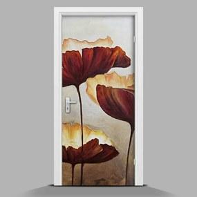 Autocolant de uși Flori desenate