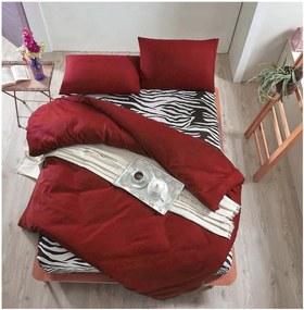 Set lenjerie de pat cu cearșaf pentru pat dublu Hermine, 200 x 220 cm