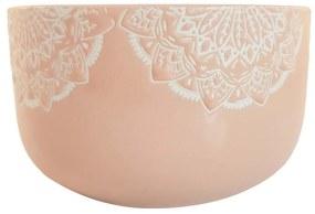 Bol Ceramica MANDALA, 320 ML, culoarea Roz