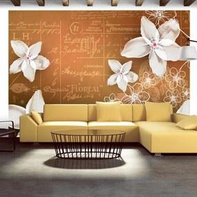 Fototapet Bimago - Floral notes + Adeziv gratuit 250x175 cm