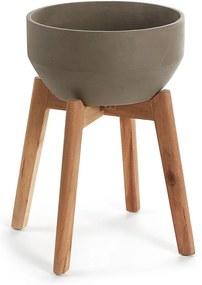 Ghiveci în suport La Forma, înălțime 40 cm