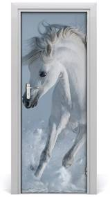 Autocolante pentru usi cal alb