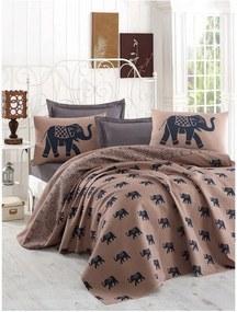 Cuvertură subțire de pat Fil, 160 x 235 cm, maro