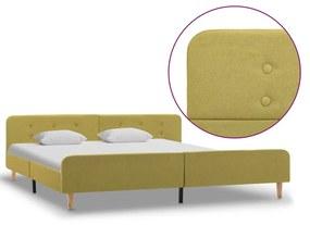 284917 vidaXL Cadru de pat, verde, 180 x 200 cm, material textil