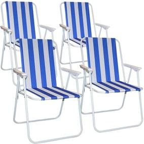 4 scaune de strand cu dungi