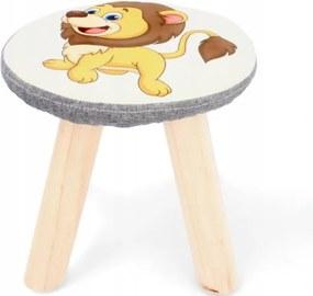Scaun pentru copii 28x28cm Leu