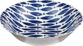 Farfurie adâncă din ceramică Churchill China Fishie Blue, ⌀ 24 cm