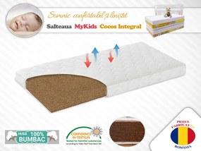 Saltea fibra de Cocos Integral 120x60x10 husa alba