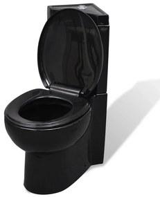 Vas WC din ceramică, Negru