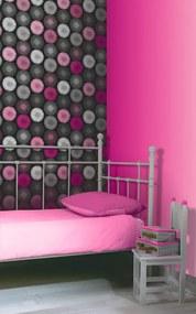 Arthouse Tapet - Daisy Black/Pink rulou 53 x 1000 cm