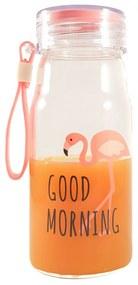 Sticla Flamingo 200 ml  din sticla cu capac ermetic