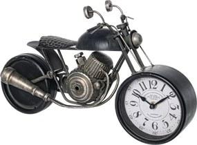 Ceas masa motocicleta metal negru Charles 39.5 cm x 14.54 cm x 23.5 h