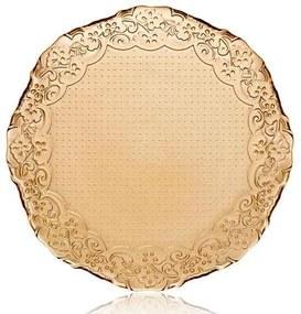 Set 6 Farfurii Dantela Luster Amber 32.5 cm
