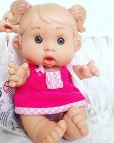 Bebelus vanilat fetita cu rochita roz Nines