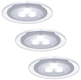Paulmann 98352 - SET 3x Corp de iluminat LED tavan fals MICRO LINE 3xLED/3W/230V/12V