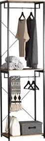 Suport pentru haine din metal/PAL,60 x 40 x 213 cm