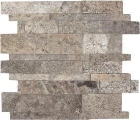 Mozaic Travertin Silver 3D Wall Polisat Produs Comanda Speciala