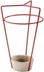 Suport cu bază din beton pentru umbrele MEME Design Ambrogio, roșu