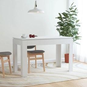 800756 vidaXL Masă de bucătărie, alb, 120 x 60 x 76 cm, PAL