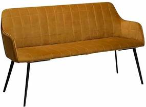 Canapea galbena din metal si catifea 153 cm Embrace Bronze Dan Form