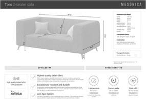 Canapea cu 2 locuri MESONICA Toro, turcoaz