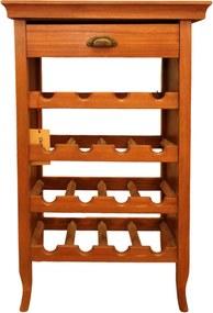 Suport pentru vinuri Dovero din lemn maro 52x36 cm