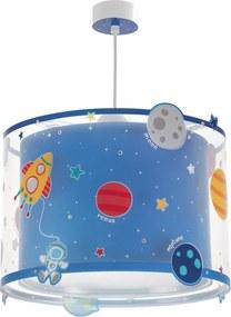 Dalber Planets 41342 Pendule pentru copii albastru 1xE27 max. 60W d33x25 cm