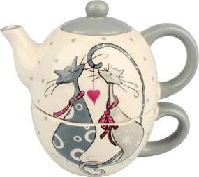 Ceainic din ceramică cu ceașcă Cats