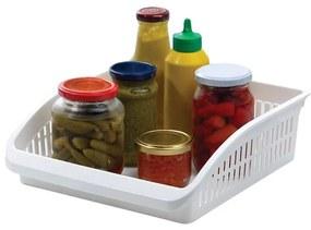 Recipient organizare frigider, 26.1x28.9x8.7 cm Plastic Alb
