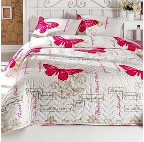 Set cuvertură și față de pernă pentru pat copii Cream, 160 x 220 cm