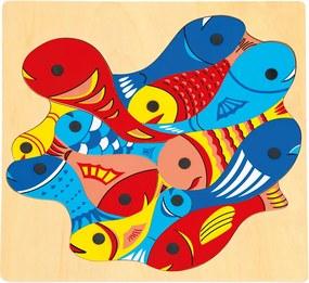 Puzzle peștișorii și undița Bino
