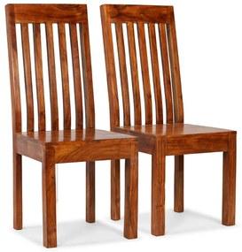 245645 vidaXL Scaune de masă 2 buc. lemn masiv cu finisaj palisandru, moderne