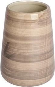 Suport pentru periuțele de dinți din ceramică Wenko Pottery, maro