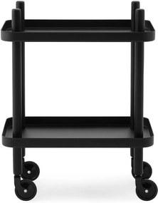 Carucior Block Negru cu Picioare Negre NORMANN COPENHAGEN - Otel Negru Latime (50cm) x Inaltime (64cm) x Diametru (35cm)