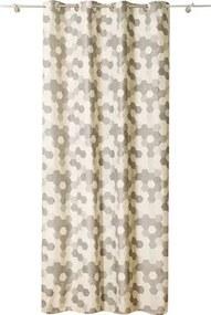 Draperie Tile cu anouri gri 140x245 cm