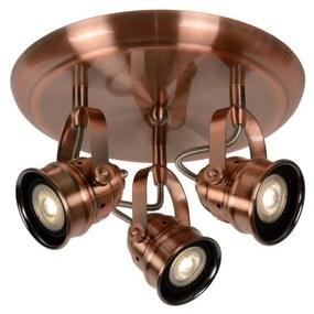 Lucide 77974/15/17 - Spot LED CIGAL 3xGU10/5W/230V de cupru