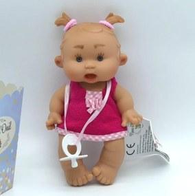 Bebelus vanilat fetita cu rochita Nines 21 cm