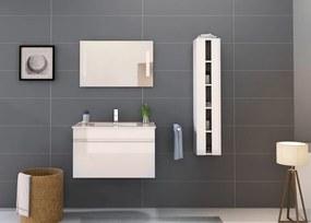 Set 3 piese mobilier pentru baie, alb, 80 cm