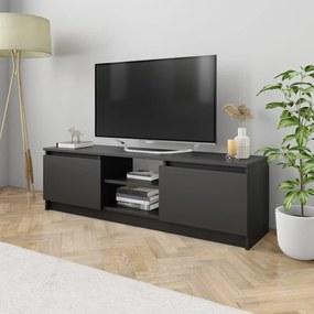 800568 vidaXL Comodă TV, negru, 120 x 30 x 35,5 cm, PAL