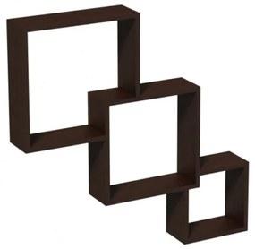 Raft de perete Modular, 65.5x10x65.5 cm, PAL Wenge
