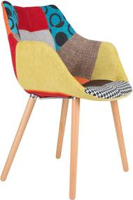 Scaun multicolor Twelve Patchwork Armchair