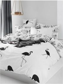 Lenjerie de pat din bumbac ranforce pentru pat de 1 persoană Mijolnir Hope Black, 140 x 200 cm